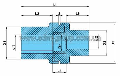 Габаритно-присоединительные размеры редуктора с фланцем серии ТР