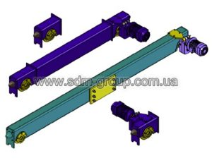 Концевые балки типа ЕС для кран-балок опорных двубалочных (кранов мостовых электрических двубалочных опорных)